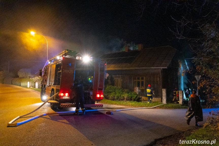 Pożar domu w Żarnowcu