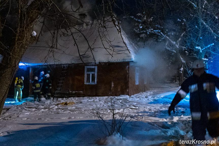 Pożar domu w Żeglcach