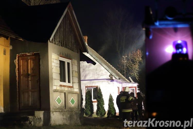 Pożar domu we Wróbliku Szlacheckim