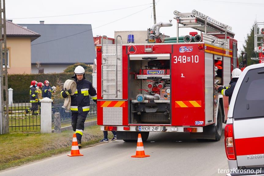 Pożar domu we Wrocance