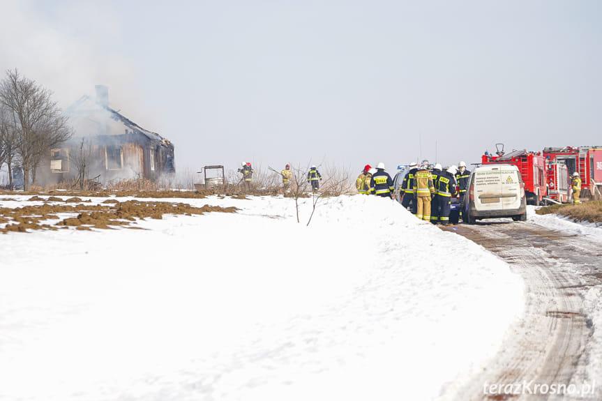 Pożar drewnianego budynku w Kopytowej
