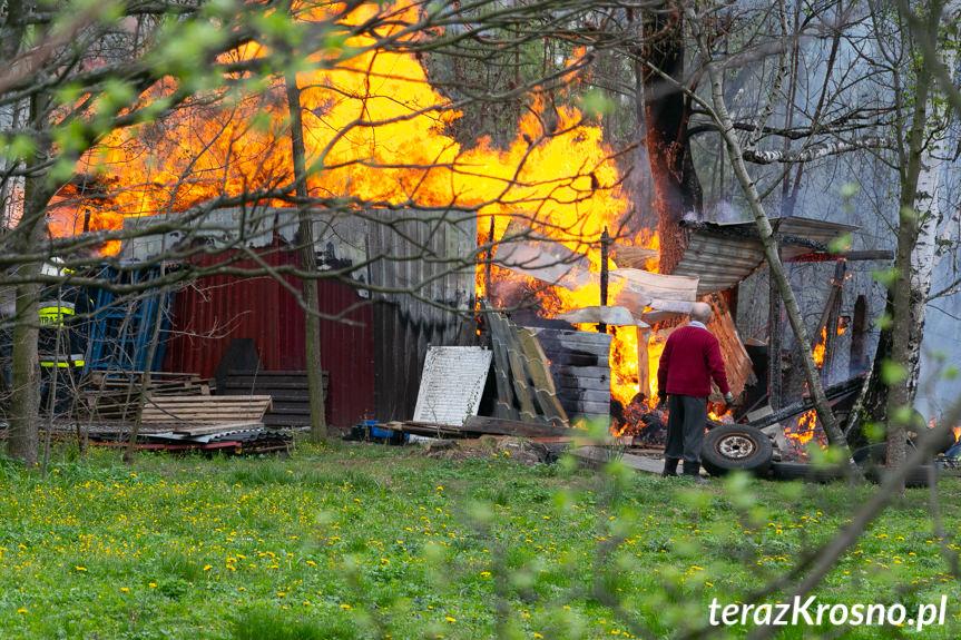 Pożar drewutni w Chorkówce