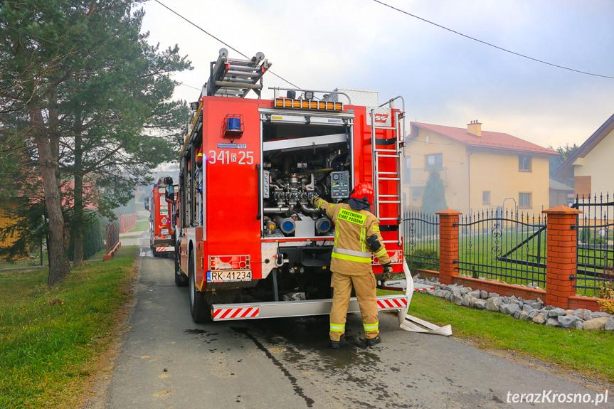 Pożar garażu w Równem