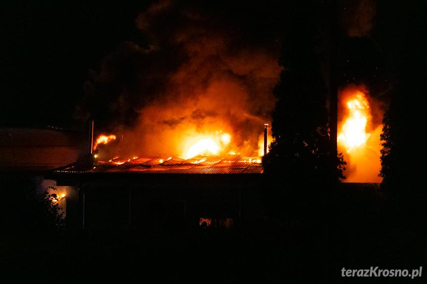 Pożar hali w Krośnie