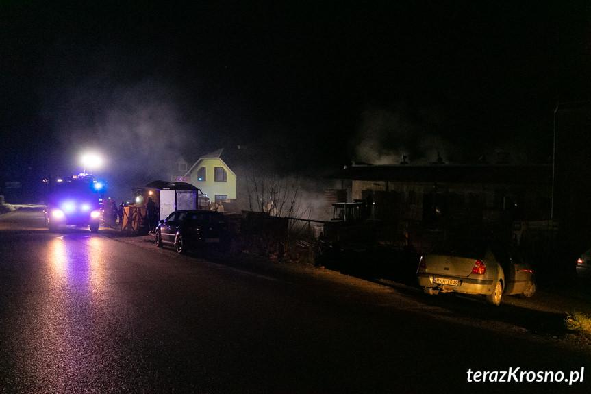 Pożar na terenie tartaku w Łękach Dukielskich