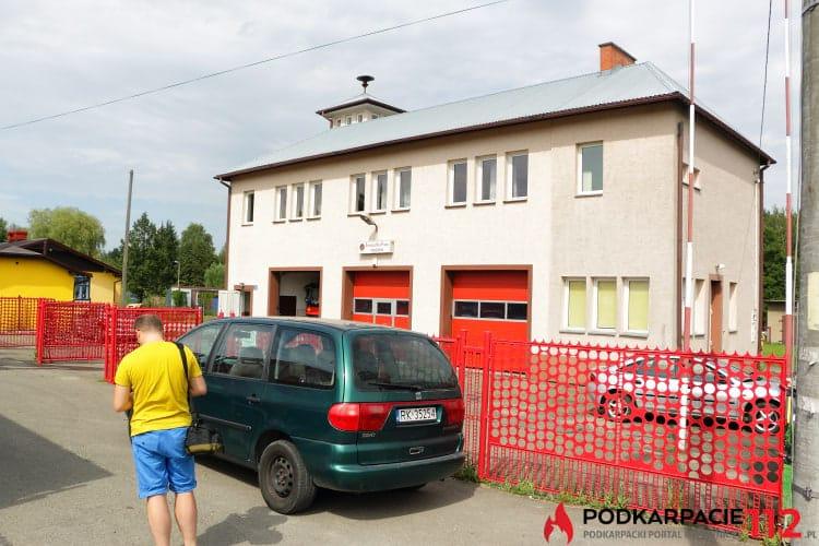 Pożar w budynku remizy OSP Krosno - Turaszówka
