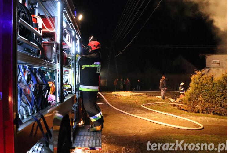 Pożar obory w Iskrzyni
