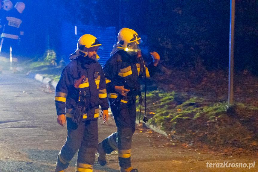 Pożar poddasza kamienicy w Rymanowie