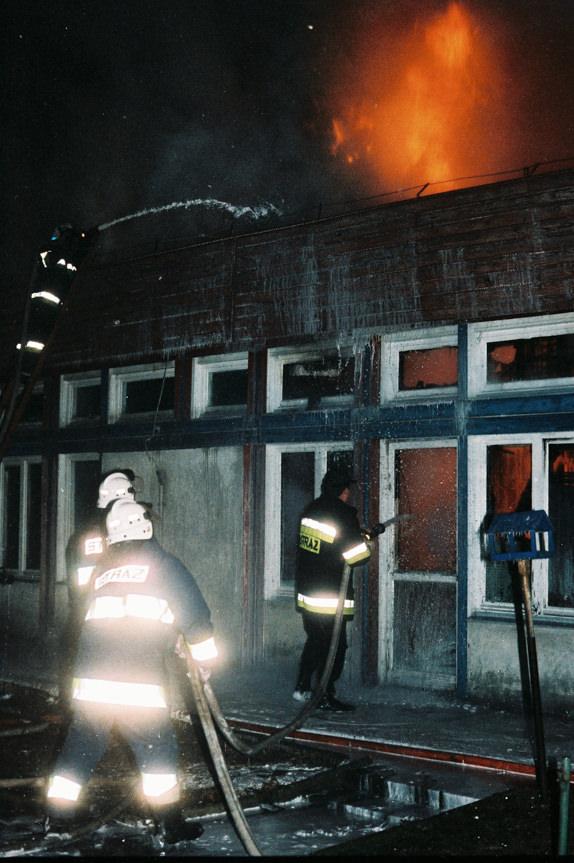 Pożar przedszkola przy ul. Szpetnara w Krośnie