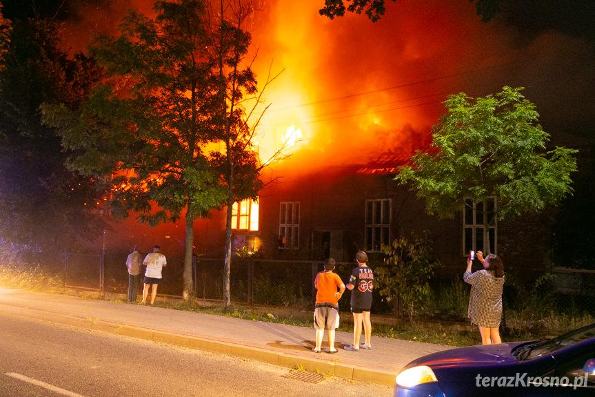 Pożar pustostanu w Polance