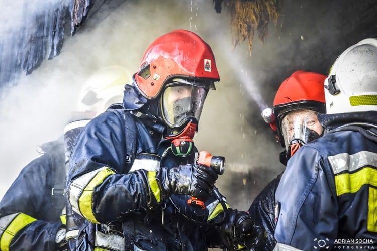 Pożar pustostanu w Rymanowie