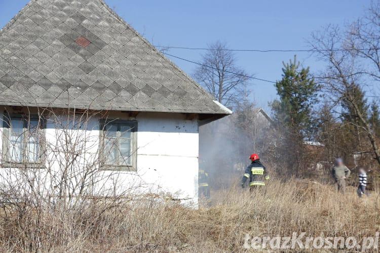 Pożar pustostanu w Żaglcach