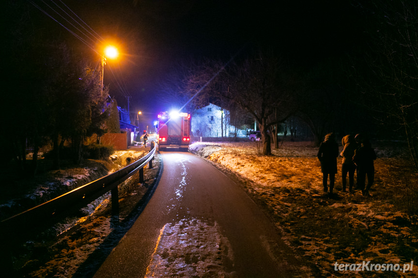 Pożar samochodów w Nadolu