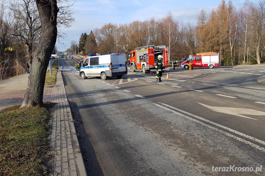 Pożar samochodu na Krakowskiej