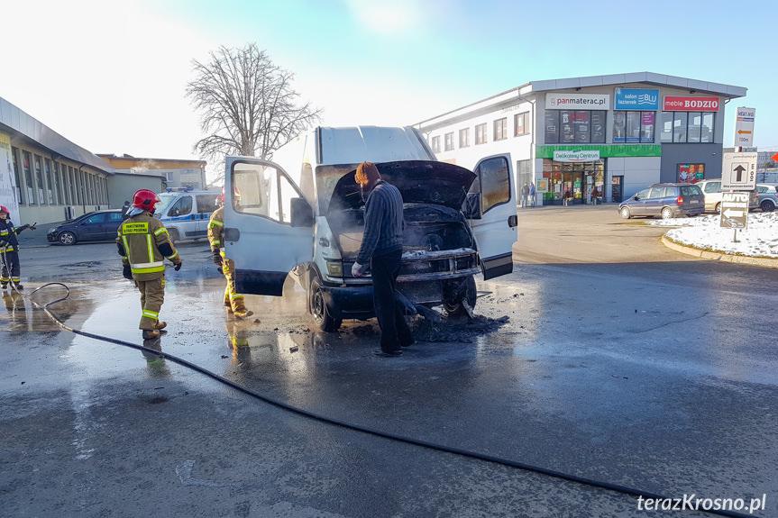 Pożar samochodu na Pużaka