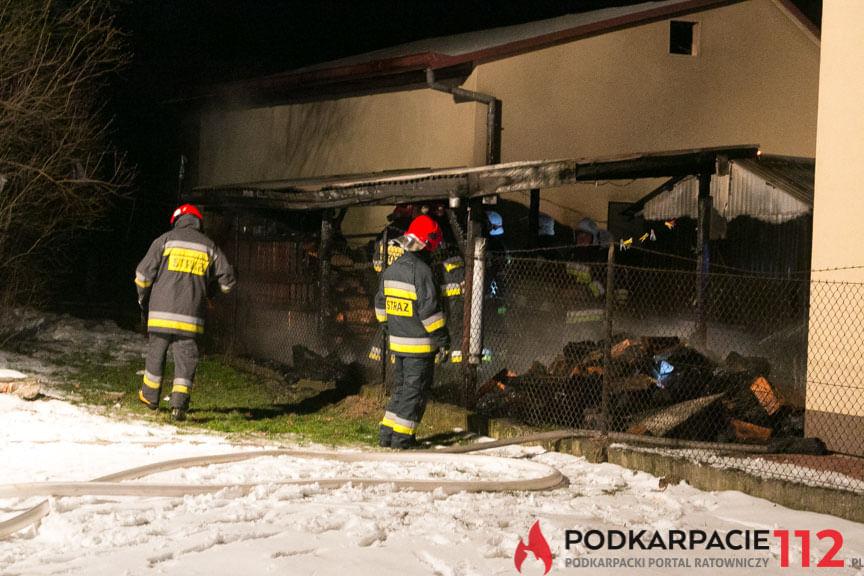 Pożar składu opału w Jedliczu
