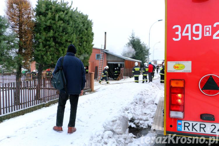 Pożar stolarni w Iwoniczu