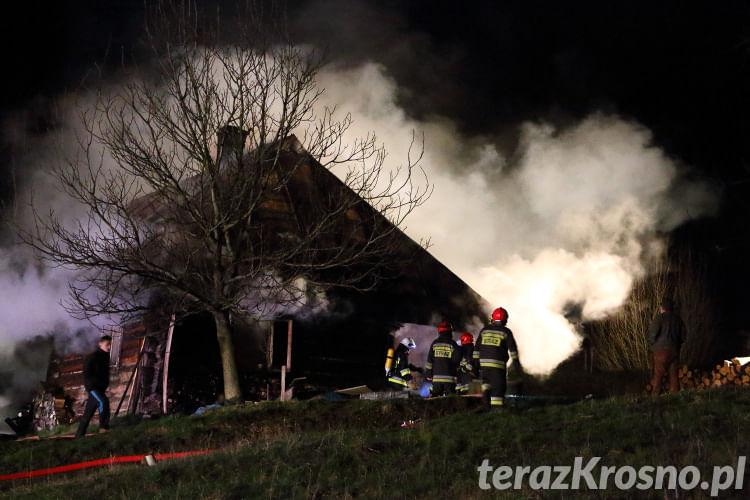 Pożar stolarni w Węglówce
