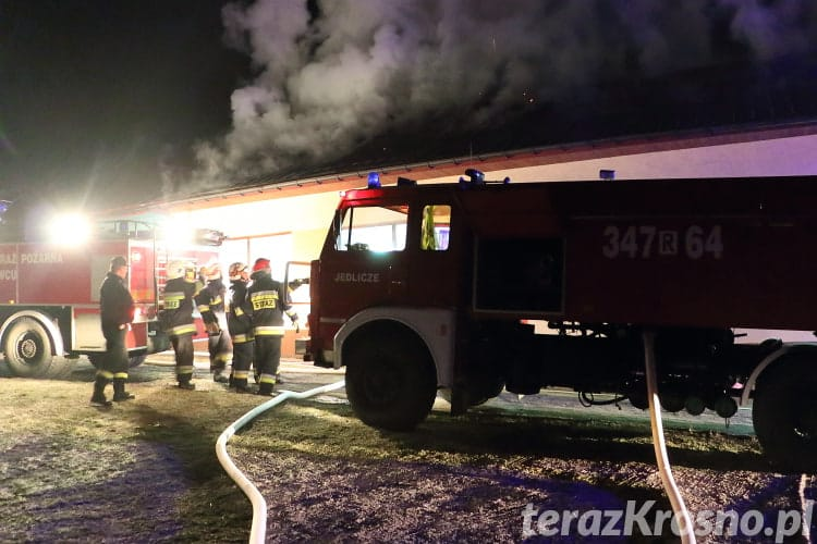 Pożar stolarni w Żarnowcu