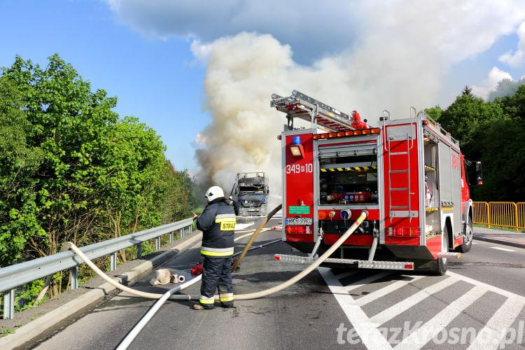 Pożar tira w Trzcianie