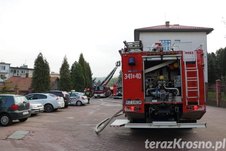 Pożar w budynku banku
