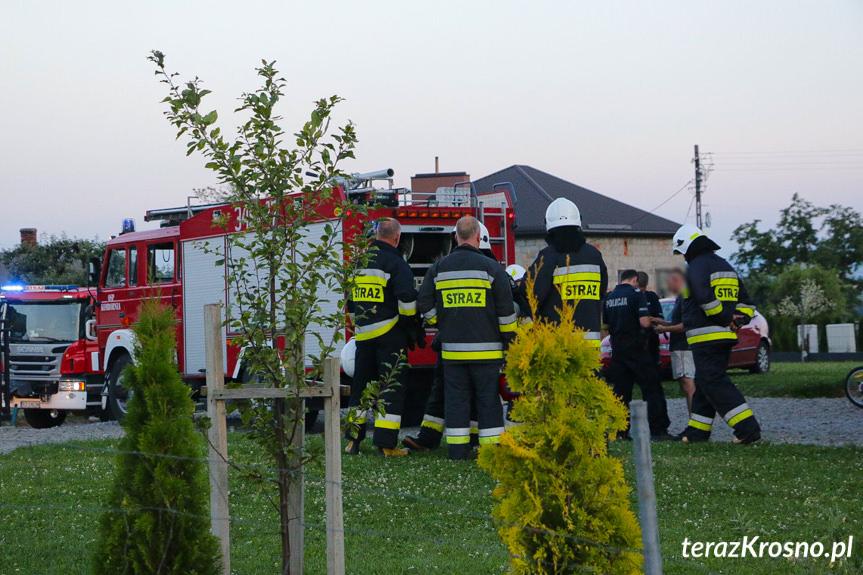 Pożar w budynku w Komborni