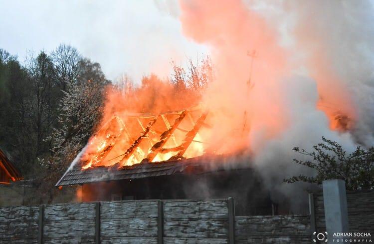 Pożar w Cergowej