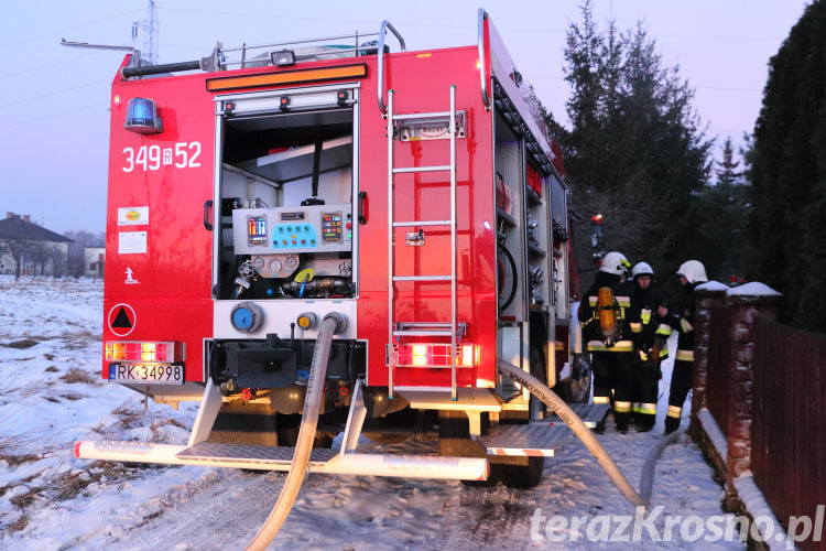 Pożar w domu na ul. Sportowej