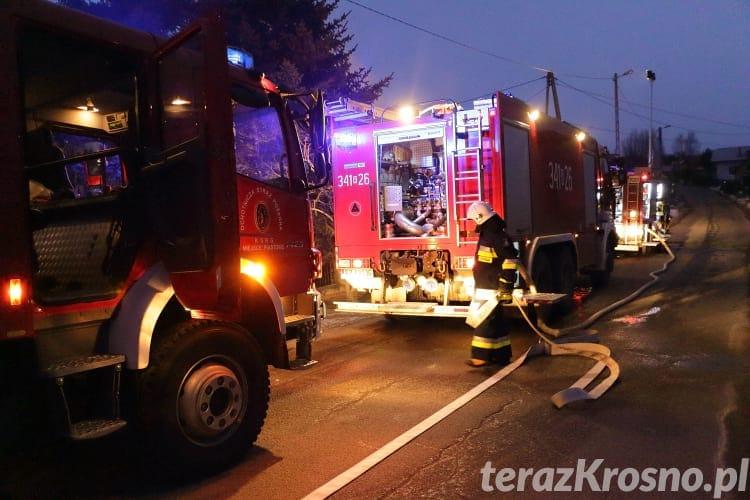 Pożar w domu przy ul. Polnej w Krośnie
