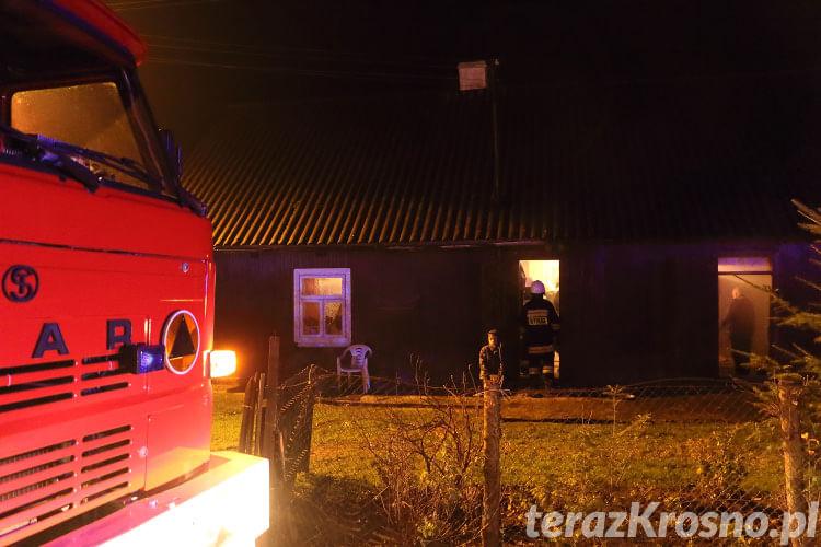 Pożar w domu w Chorkówce