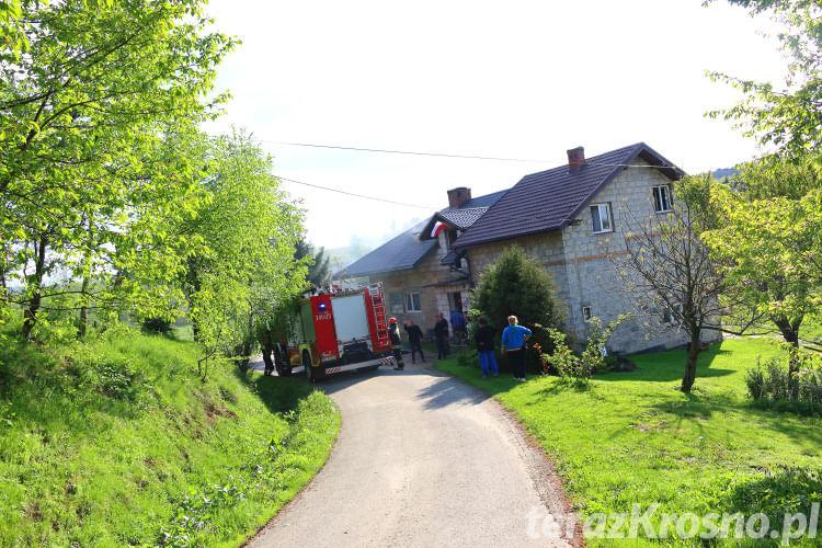 Pożar w domu w Kopytowej