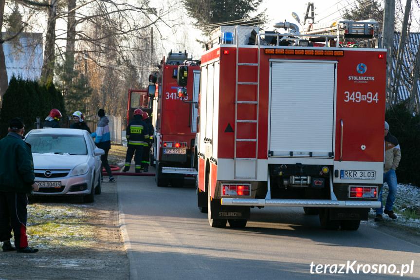 Pożar w kotłowni w Odrzykoniu