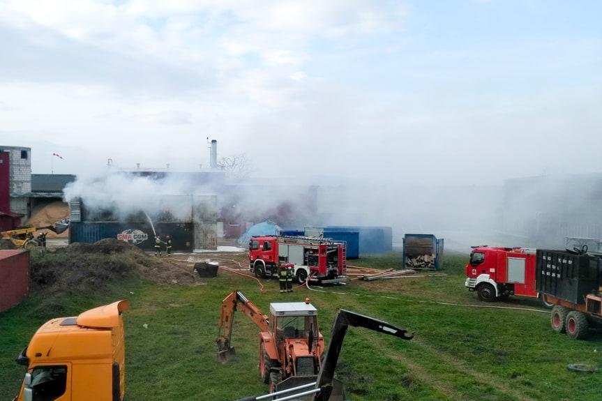 Pożar wiór tytanowych