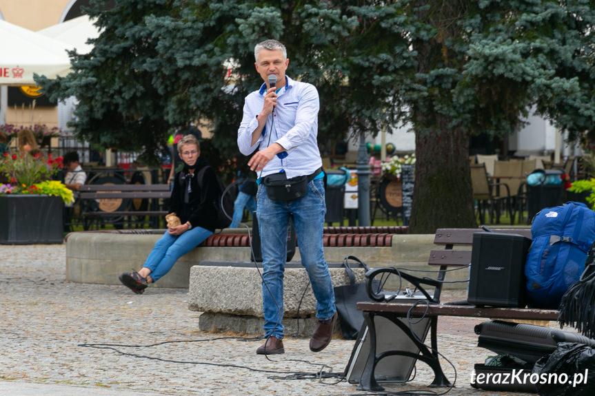 Proklamacja na rynku w Krośnie