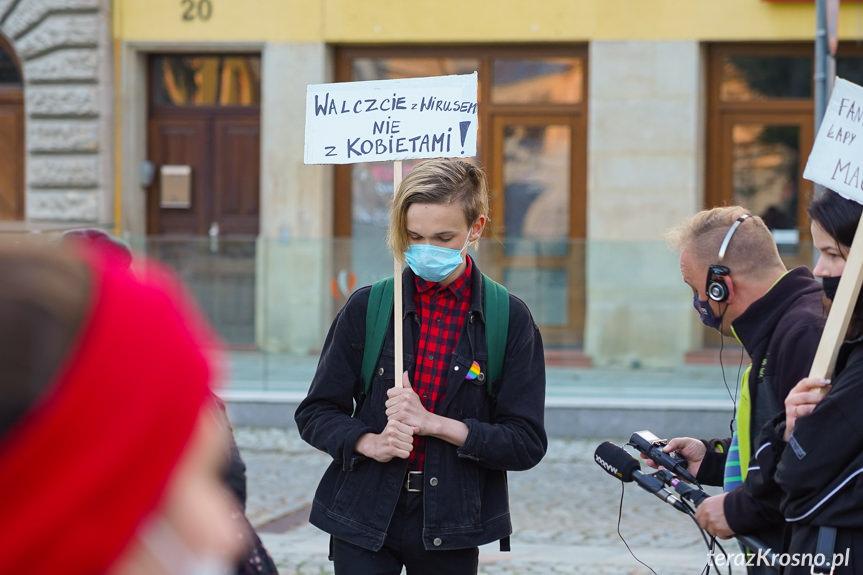Protest kobiet w Krośnie