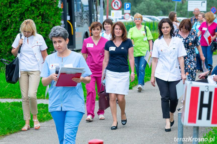 Protest pielęgniarek w Krośnie