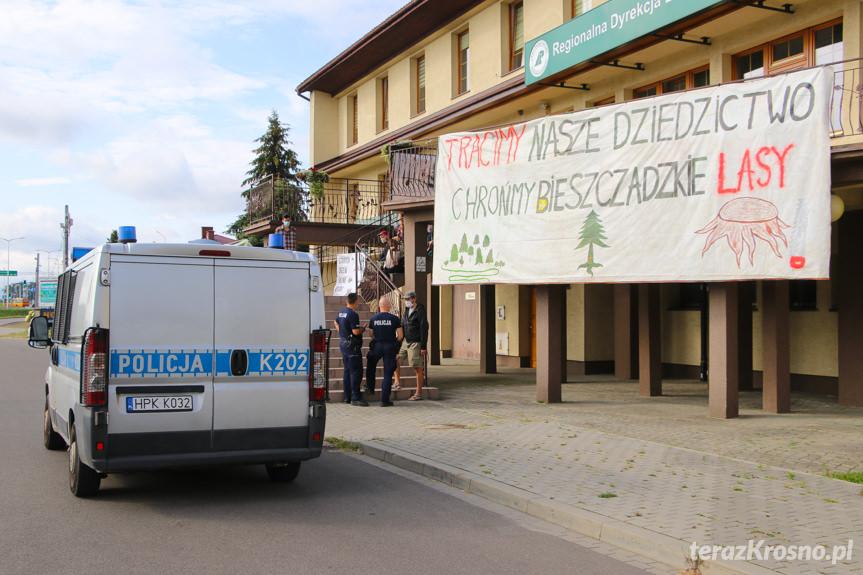 Protest pod RDLP w Krośnie