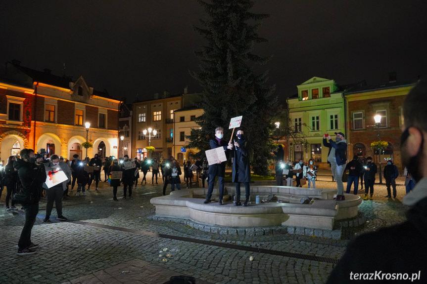 Protest w Krośnie