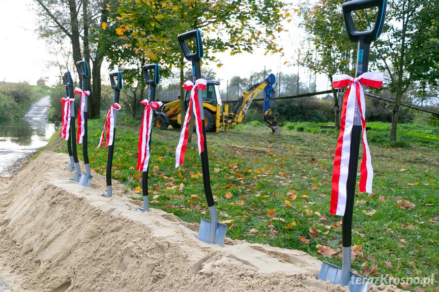 Rozpoczęcie budowy mostu na Wisłoku w Wojkówce