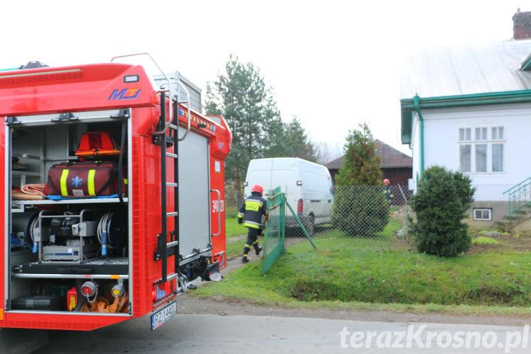 Rozszczelniona rura z gazem w Żeglcach