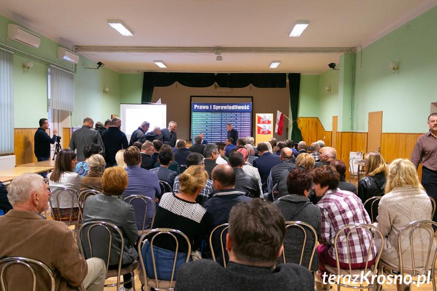 Spotkanie przedwyborcze w Zręcinie