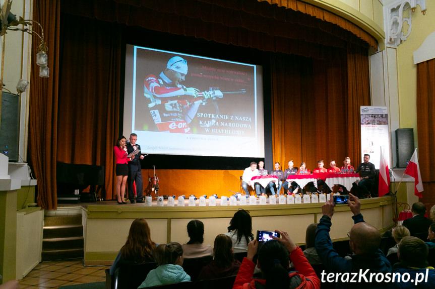 Spotkanie z zawodnikami kadry narodowej w biathlonie
