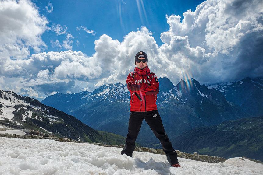 Strażacy na Mont Blanc