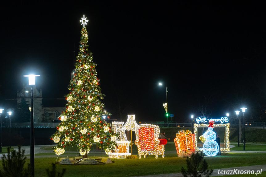 Świąteczne dekoracje w Rymanowie-Zdroju i Iwoniczu-Zdroju