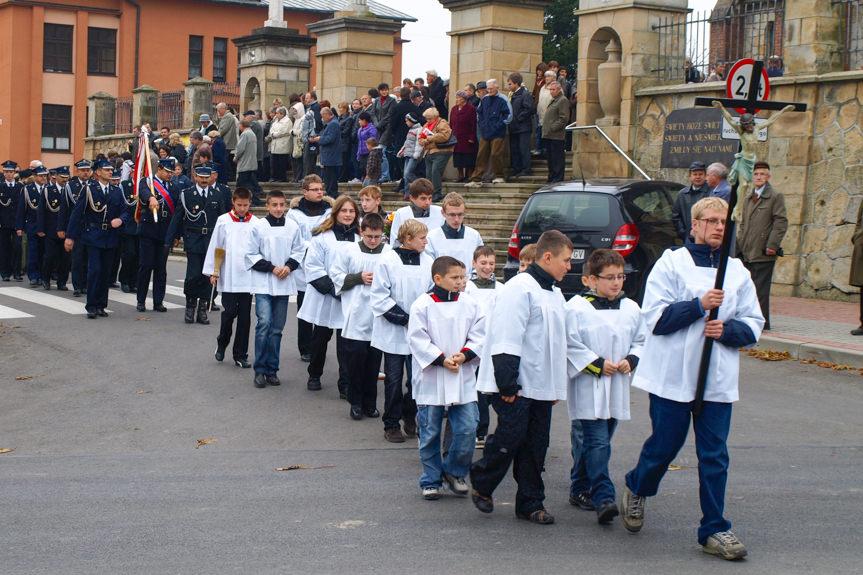 Uroczystość odsłonięcia tablicy pamiątkowej w Korczynie