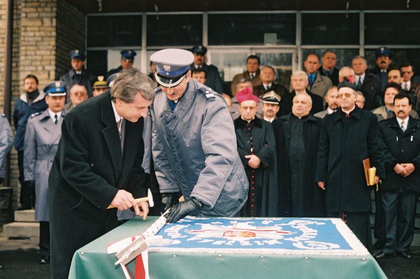 Wręczenie nowego sztandaru Komendzie Miejskiej Policji w Krośnie
