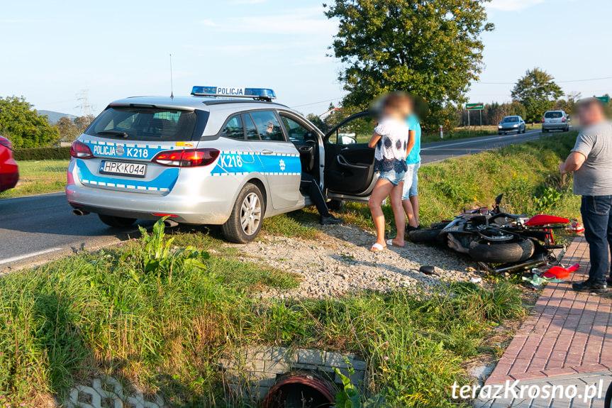 Wypadek motocyklisty w Bajdach