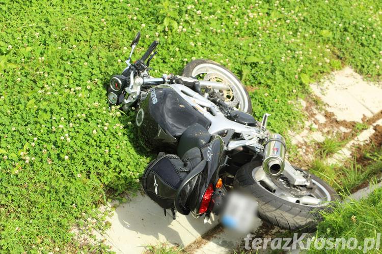 Wypadek motocyklisty w Krośnie
