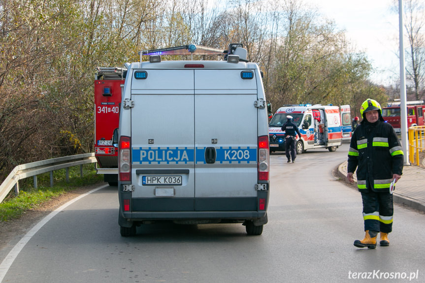 Wypadek motocyklisty we Wróbliku Królewskim