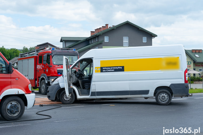 Wypadek na DK28 w Jaśle